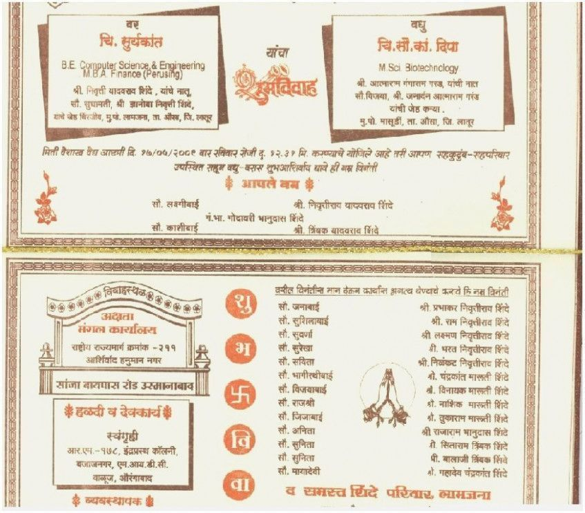 15 Things About Wedding Invitation Template In Marathi You Have To Experience It Your Wedding Invitation Quotes Wedding Invitation Cards Invitation Card Format