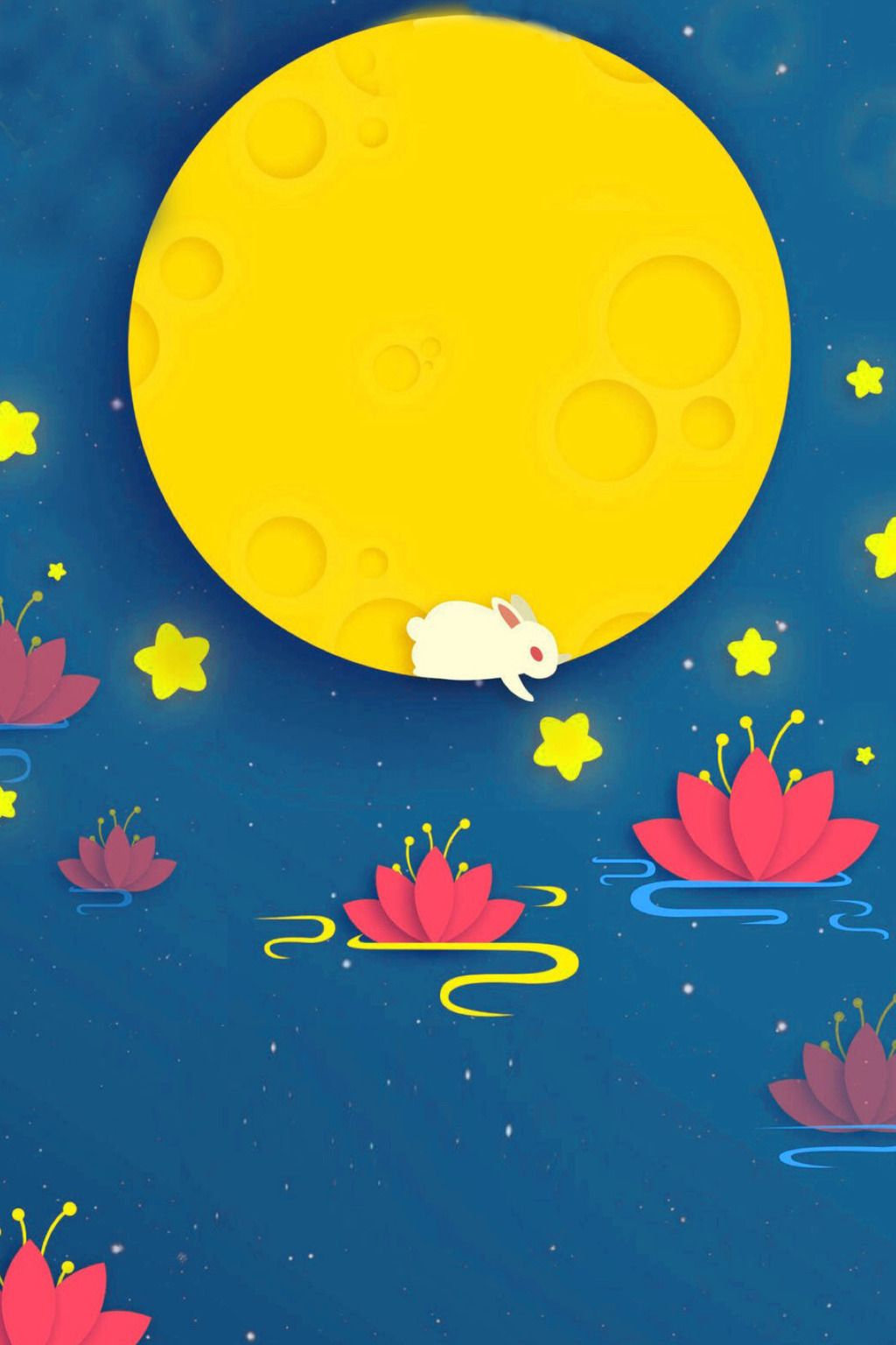 Blue Mid Autumn Festival Background Mid Autumn Festival Moon Cake