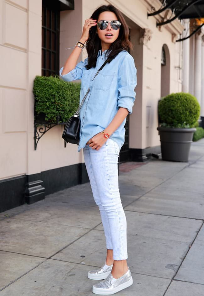Tendance Chaussures 2018  Tendance Chaussures 2018  Get Ready for Outing  With Denim Outfit By Pair  , Vogue Tunisie