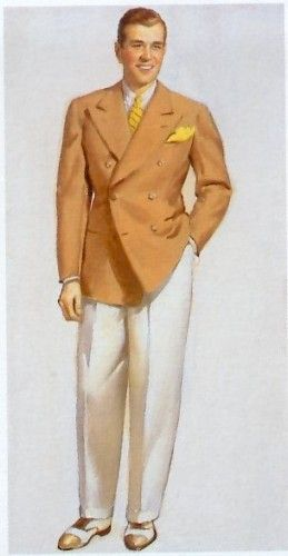 1930s Men S Suits History In Pictures Fashion Illustration Vintage Mens Fashion Illustration 1940s Mens Fashion