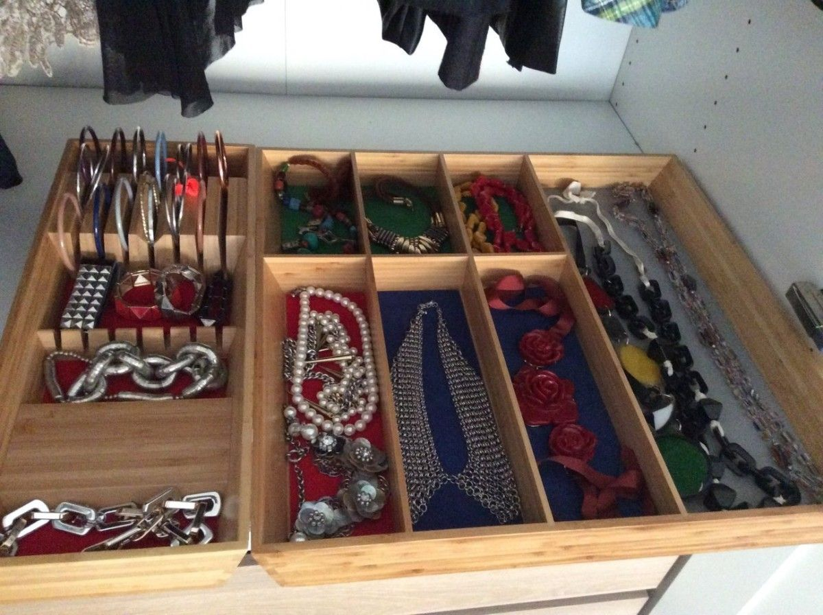 We Bought The VARIERA Cutlery And Knives Tray And Both Were Too Big For Our  Kitchen · Jewelry OrganizationHome OrganizationJewelry StorageIkea ...