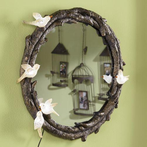 Faux Twig And Branch Mirror Twig Mirror Mirror Decor