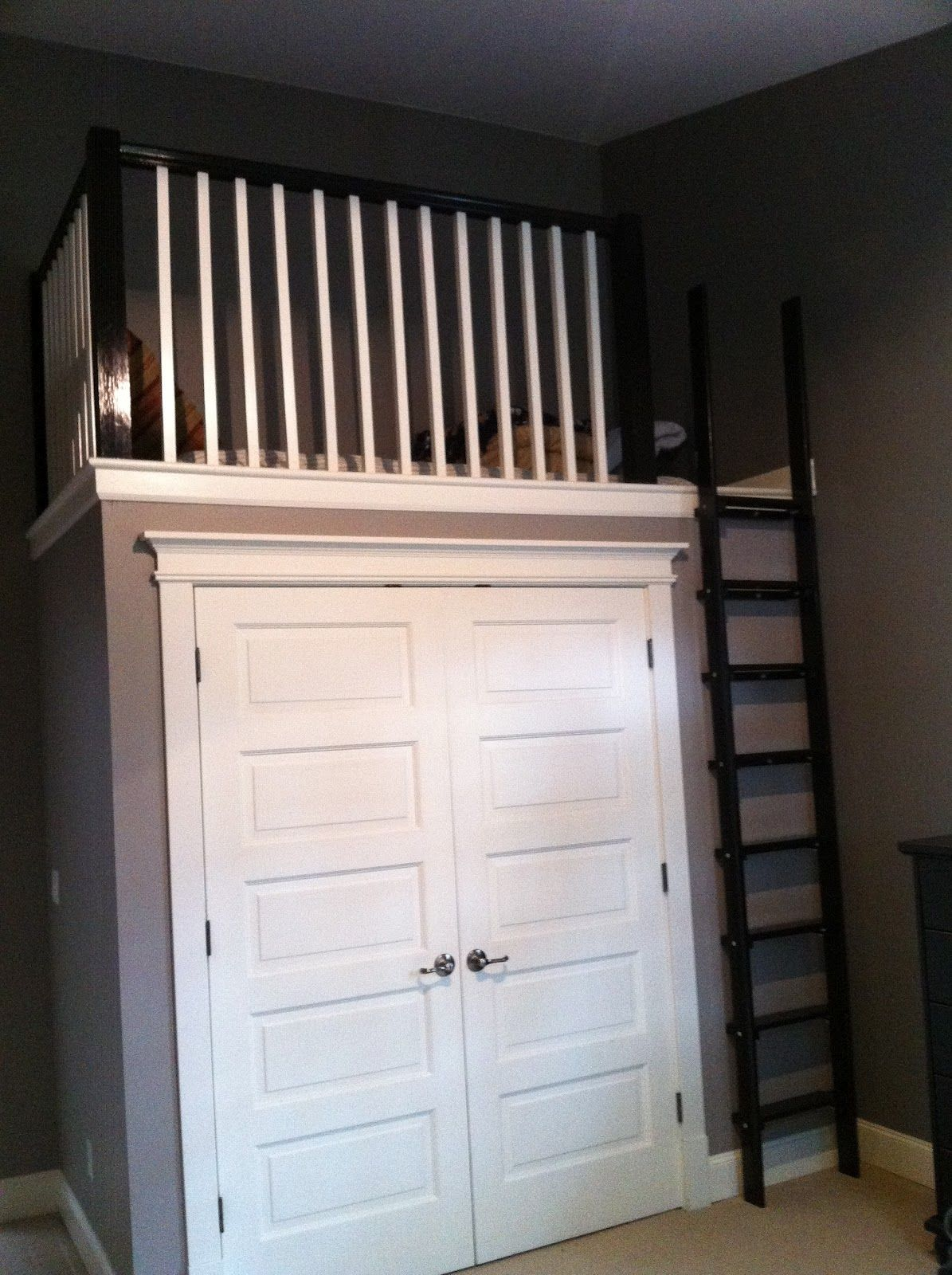 """Loft over a closet, maybe for that awkward """"display"""" area"""