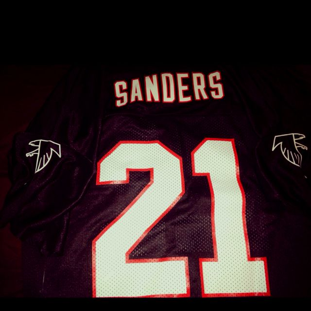 buy popular 40ab9 90721 Throwback Neon Deon Sanders Falcons jersey | My Style ...