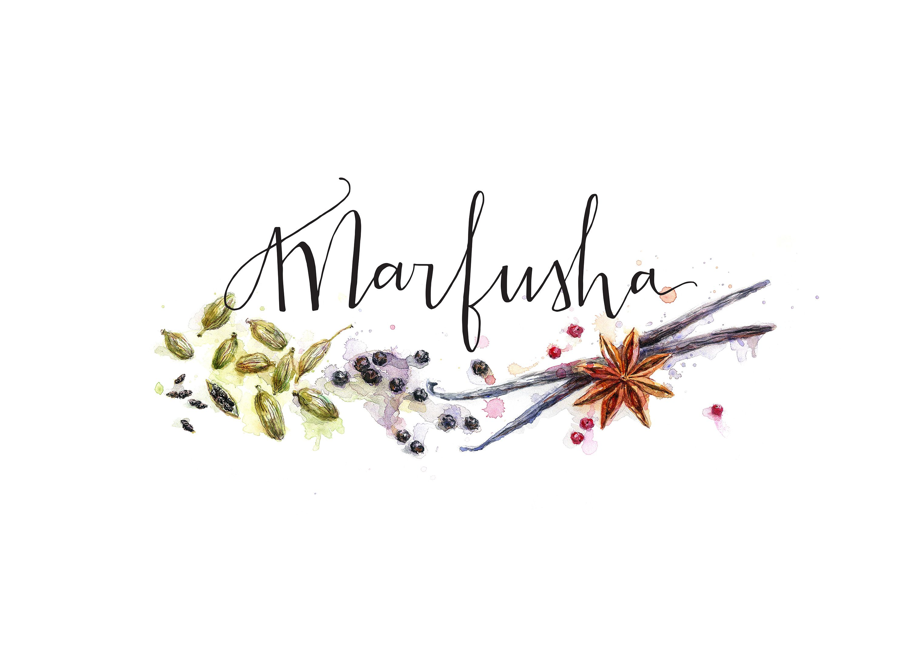 logo for the site about ayurvedic cuisine watercolor