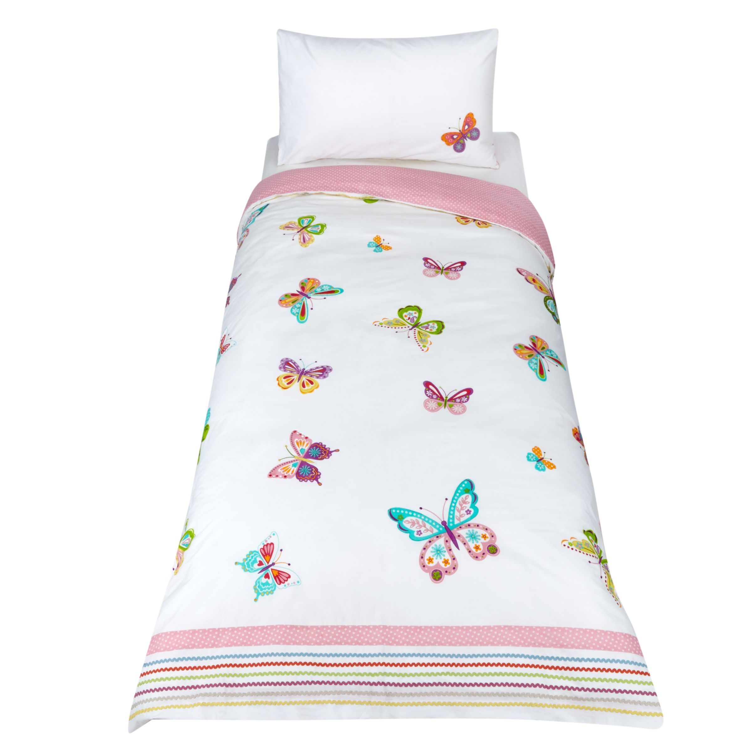 Little Home At John Lewis Butterfly Embroidered Duvet