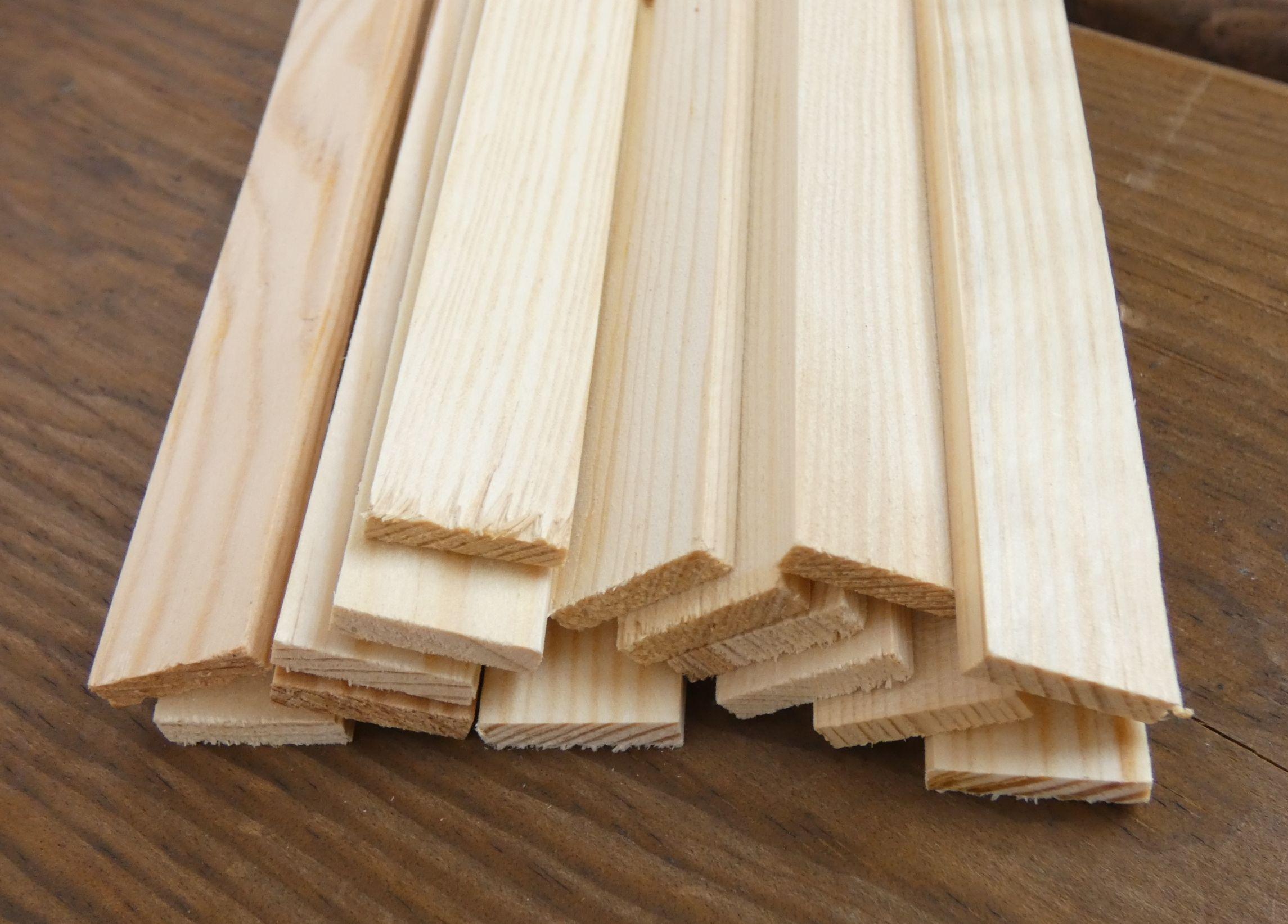 15 Rechteckleisten Kiefer 5 X 19 X 1000 Mm Holzlatten Holz Holzarten