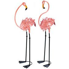 Lawn Pink Flamingo Yard Garden Pair Decoration Decor Grland Flirty Flamingos