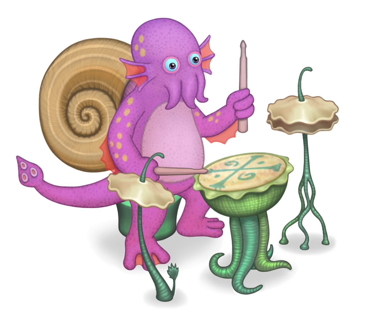 Shellbeat My Singing Monsters Wiki Fandom Powered By Wikia Monstros Criancas Monstro