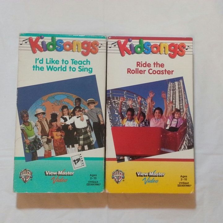 KidSongs I'd Like To Teach The World To Sing 1986 VHS Ride