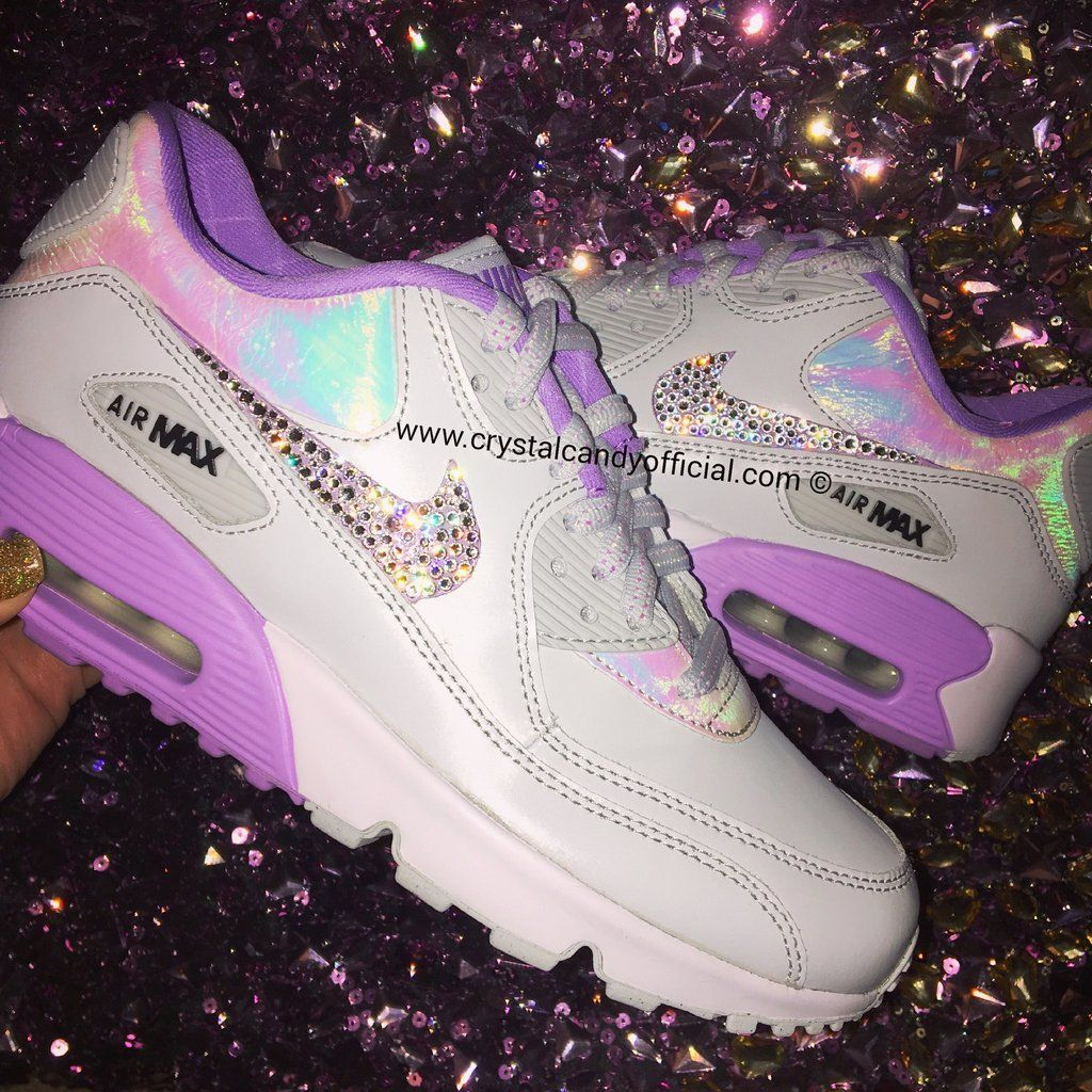 Crystal Nike Air Max 90 s in White (fully crystallised) in 2019 ... 172cbbbe1