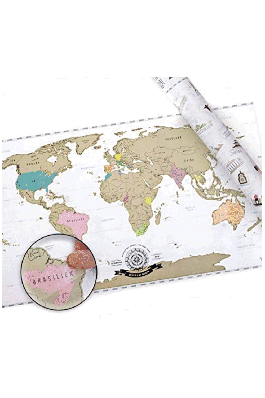 Weltkarte Zum Rubbeln in Deutsch Rubbelweltkarte Landkarte