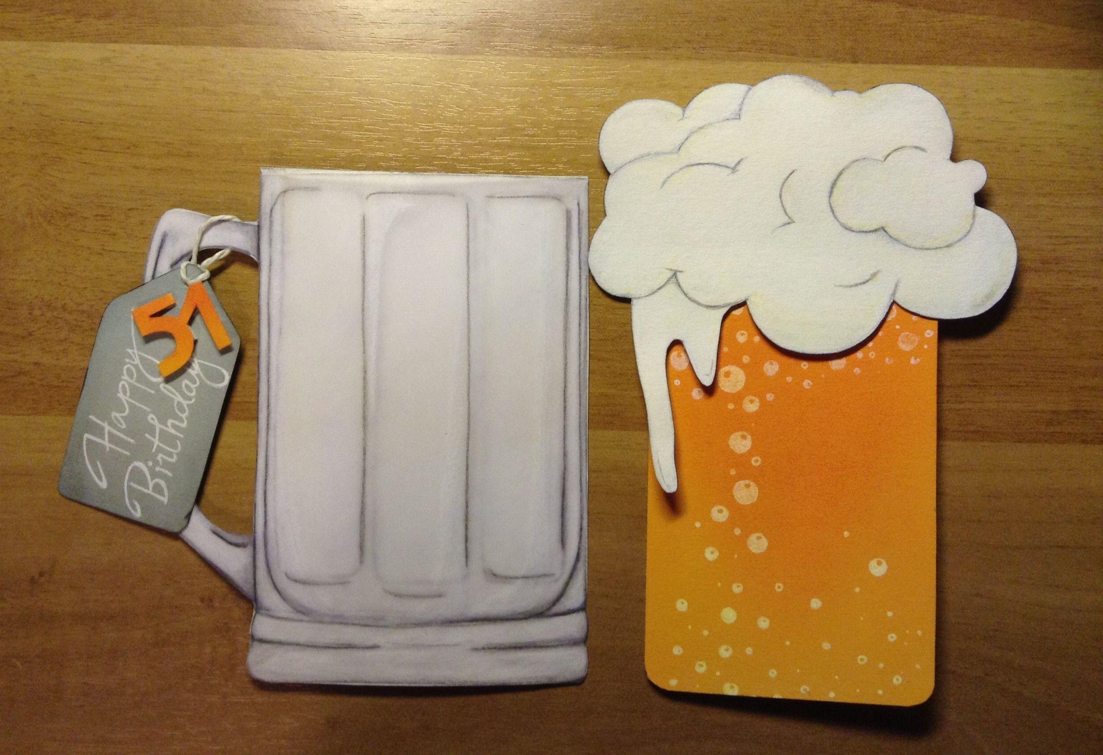 Beer Birthday Card Beer Birthday Cards Beer Card Handmade Birthday Cards