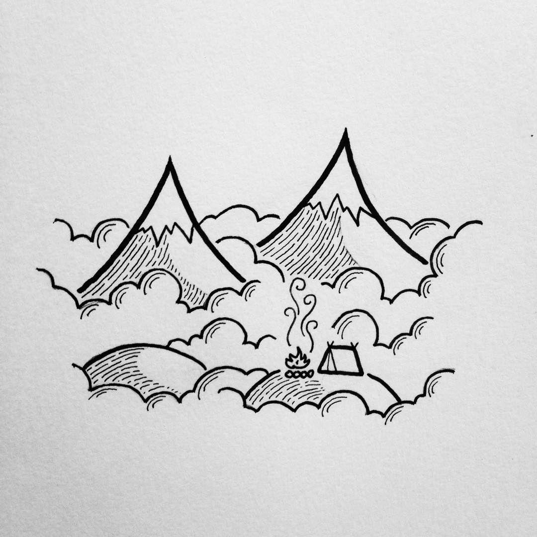 Dessin Montagne Art En 2018 Pinterest Dessin Idee Dessin Et