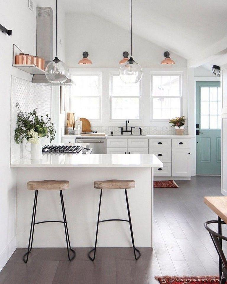 35 Modern White Kitchen Design and Layout Ideas Kitchen