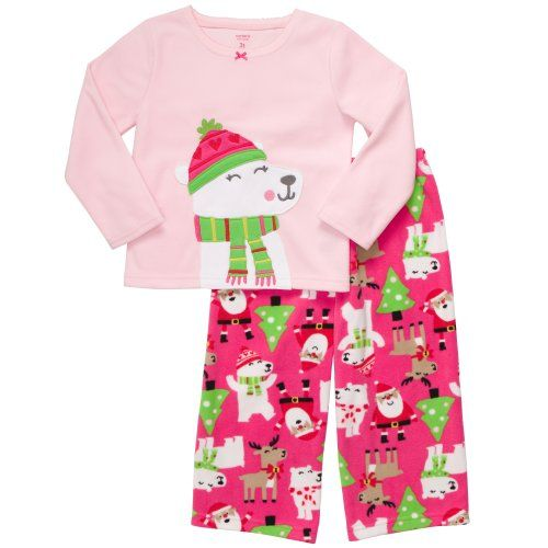 727f448f5a Carter s Toddler Holiday 2 Pc Fleece PJ Set - Bear w Scarf-3T Carter s http