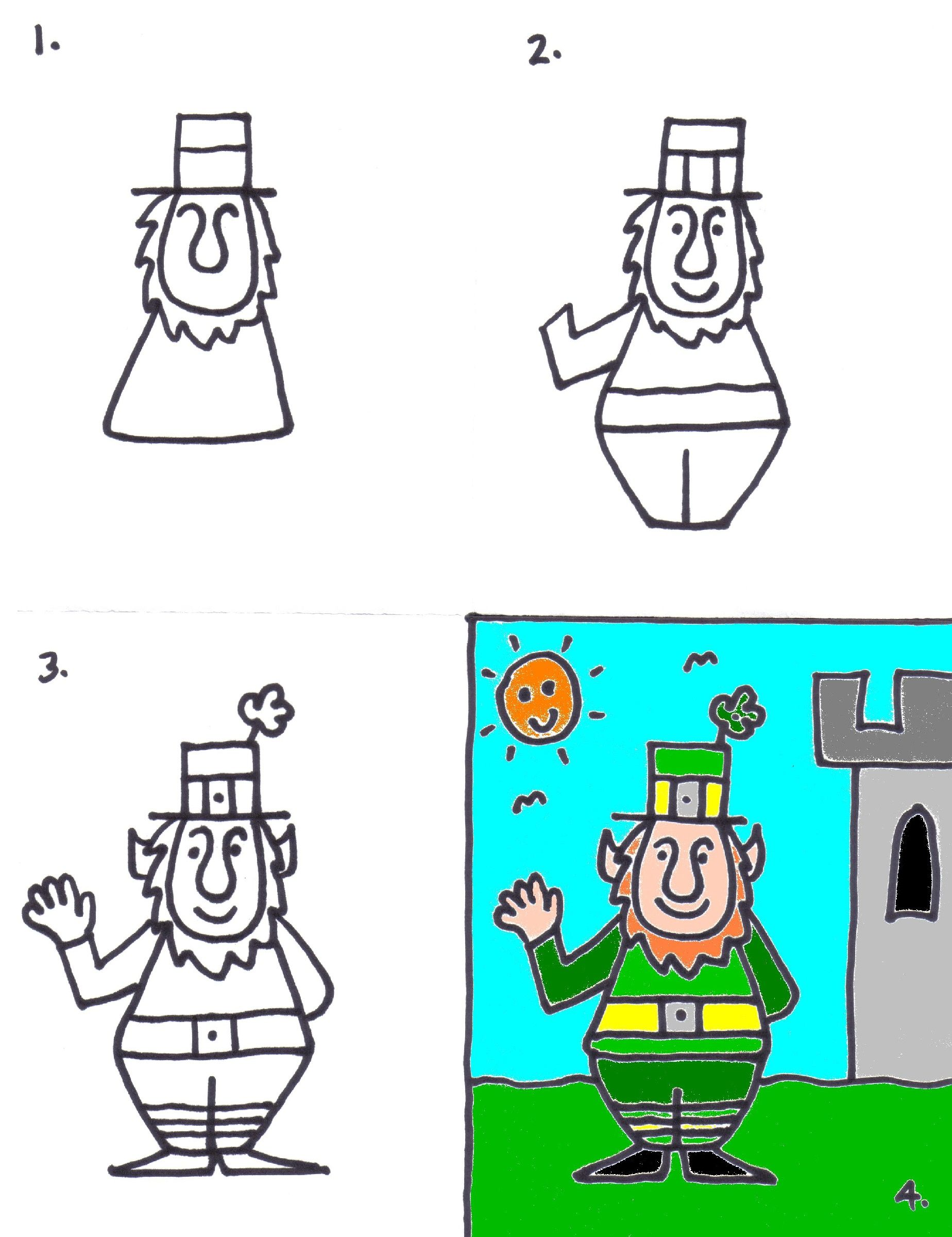 How to draw a leprechaun art for kids pinterest how to draw a leprechaun ccuart Choice Image