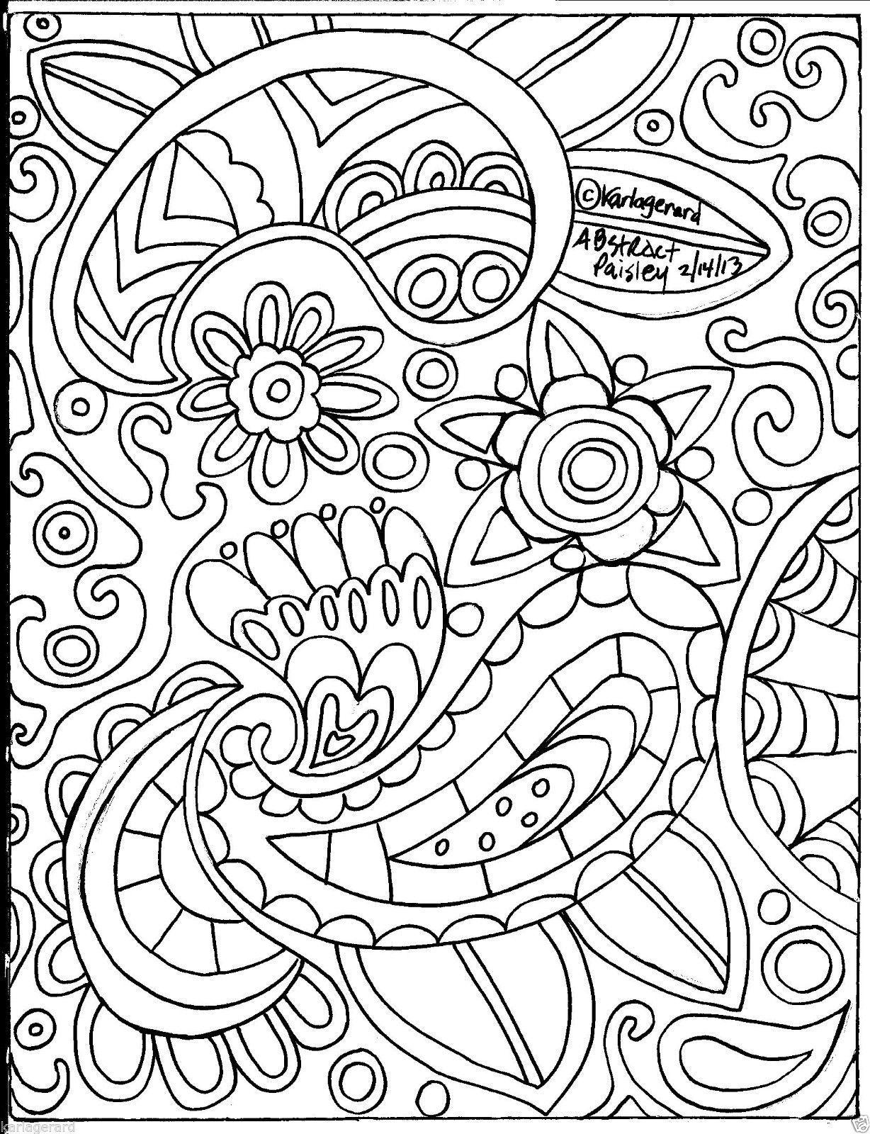 Rug Hooking Paper Pattern Abstract Paisley Folk Art Unique Karla G Bordado Popular Patrones De Alfombra De Enganche Alfombra De Enganche
