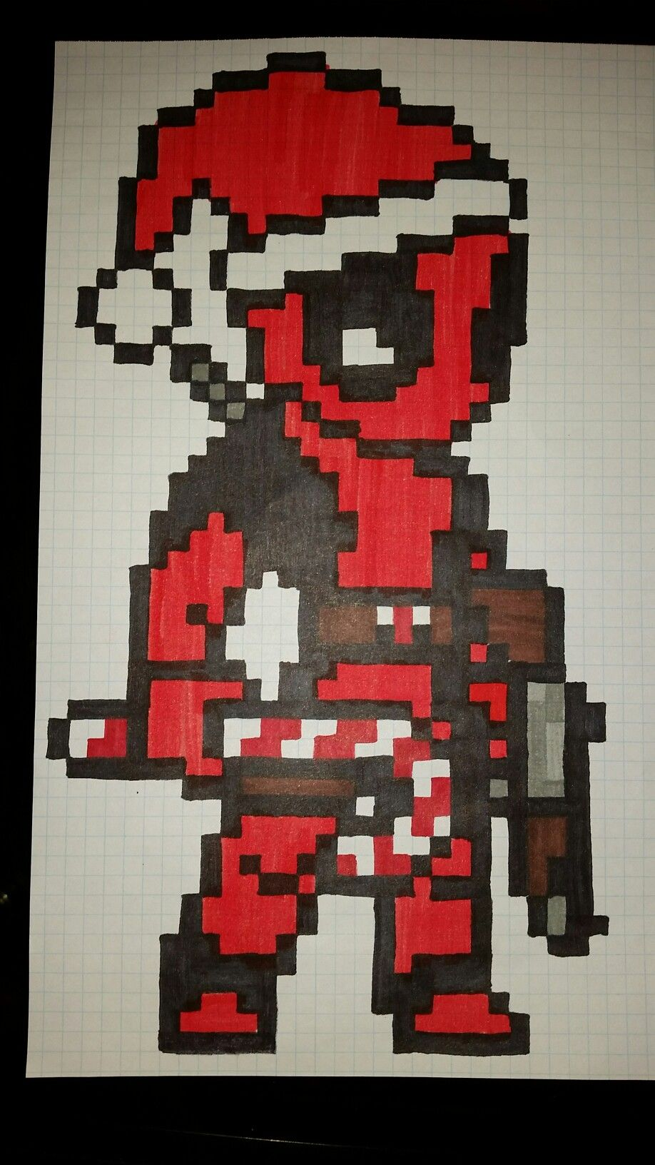 Deadpool navideño pixel art | pixel art | Dibujos tumblr ...