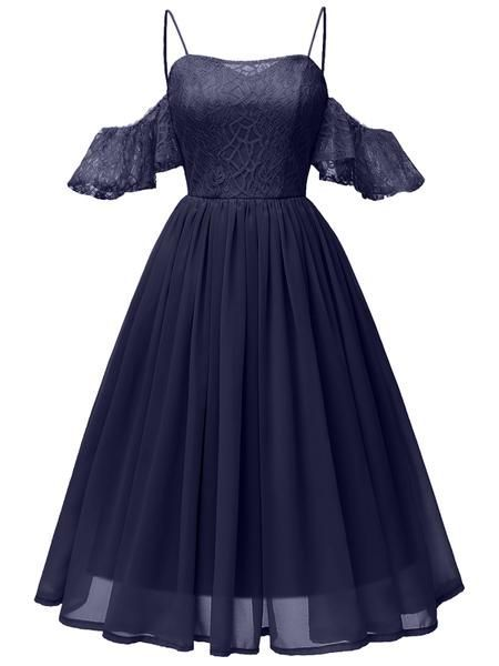 Photo of LaceShe Women's Sweetheart Sling Lace Bridesmaids Dress