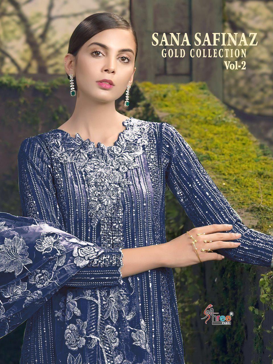 ce27dd1c07 Shree fabs Sana Safinaz gold collection vol 2 Designer Pakistani dress  catalog buy online in surat - KAPDAVILLA