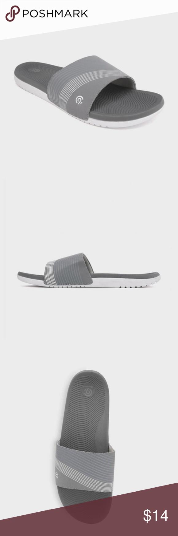 2c1ebf81c59189 Men s Jerry Slide Sandals - C9 Champion Grey Men s Jerry Slide Sandals - C9  Champion Grey