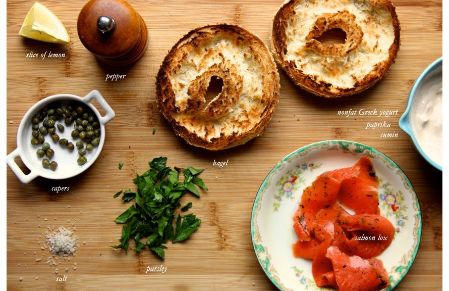 Easy lunch recipe by @joythebaker for The Everygirl -Bagel and Lox