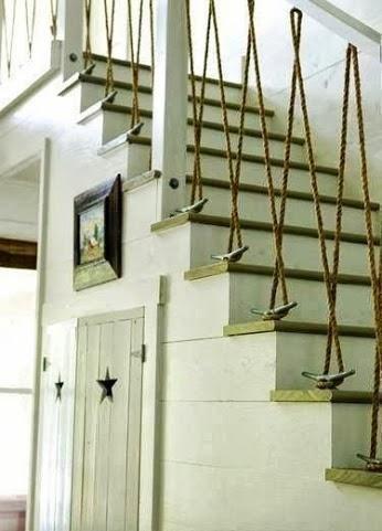 15 ideas para decorar con cuerdas escales pinterest - Pasamanos de cuerda ...