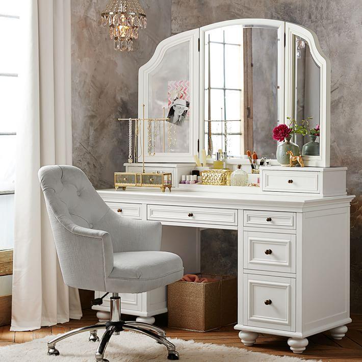 The Prettiest Vanities Đồ đạc Nhà, Makeup Vanity No Mirror