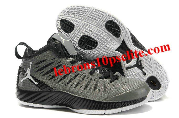 Jordan Super Fly 2012 Grey Black White  deb37b888