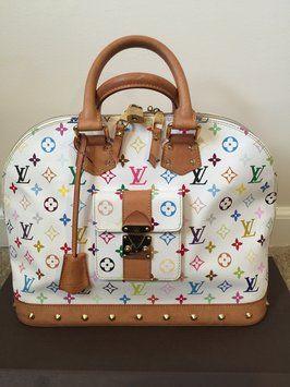 Louis Vuitton Alma Gm Multicolor White Satchel. Save 49% on the Louis  Vuitton Alma Gm Multicolor White Satchel! This satchel is a top 10 member  favorite on ... f2a33b9a5c701