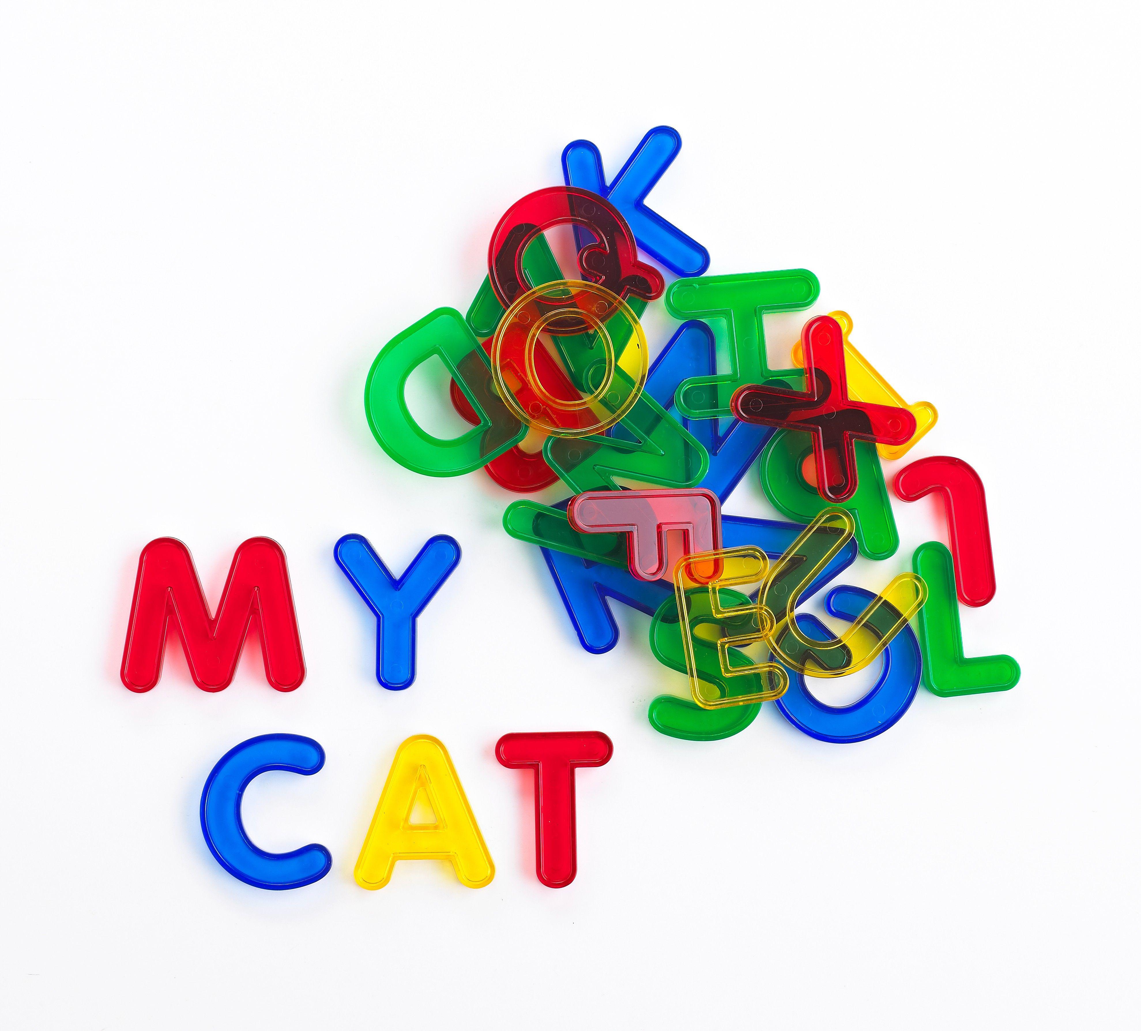 Transparent Letters Alphabet activities, Educational