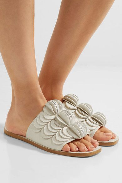 Mercedes Castillo Delphia Leather Slide Sandals