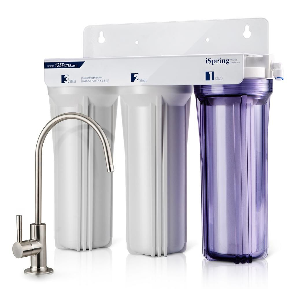 Water Filter Under Kitchen Sink.Ispring 3 Stage Under Sink High Capacity Tankless Drinking