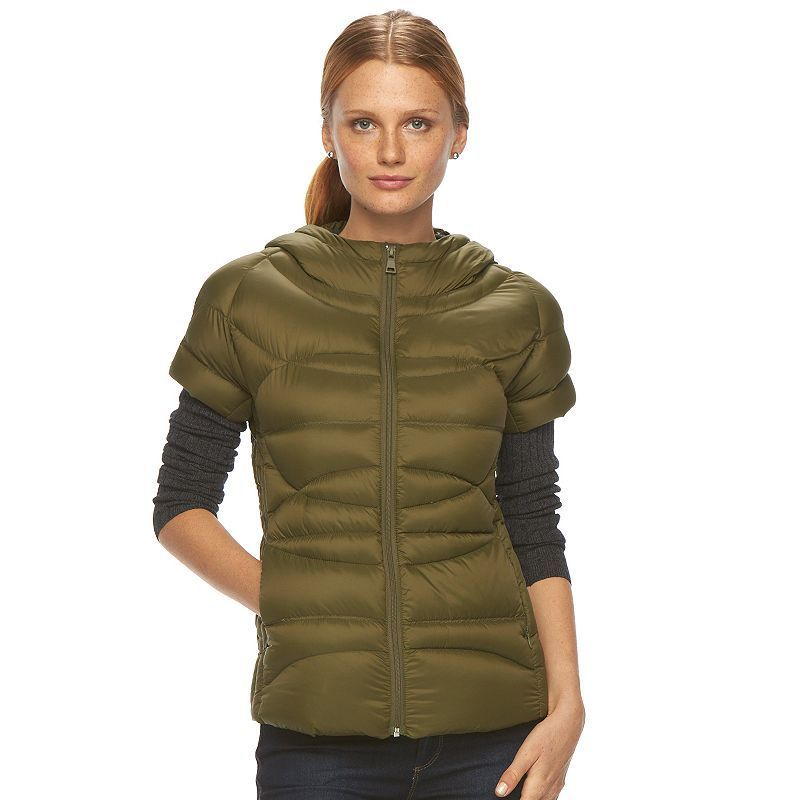 Women's Neo-I by Orobos Hooded Down Puffer Jacket, Size: Xx Small, Green