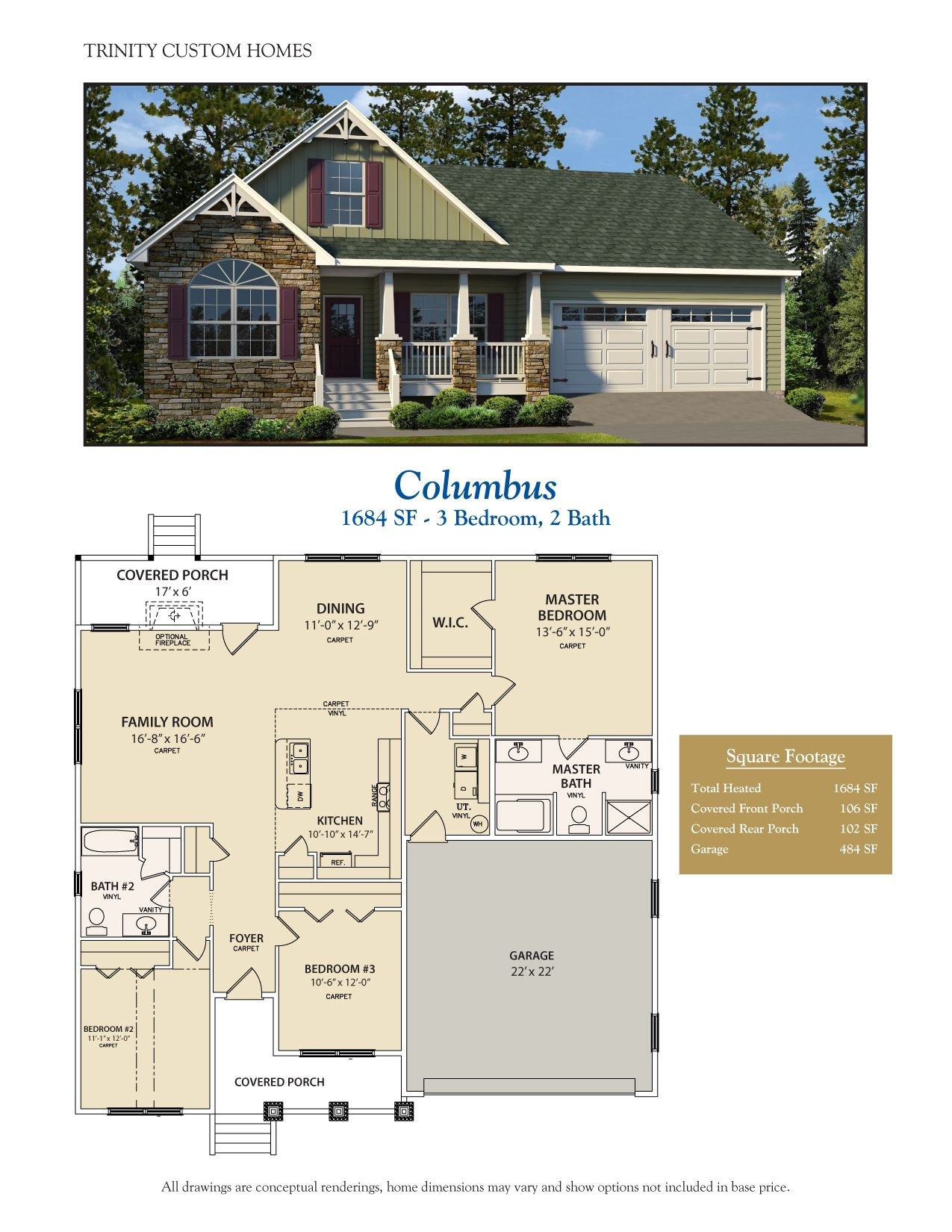 Take a look at all of trinity custom homes georgia floor for Trinity house plans