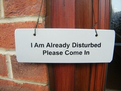 Im Already Disturbed Please Come In