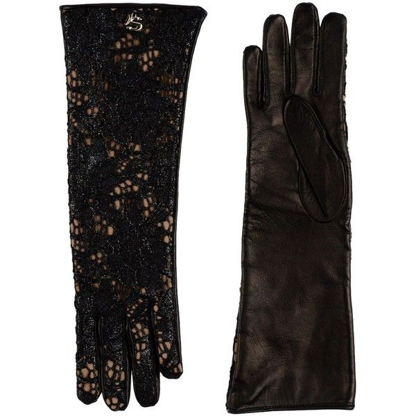Siste' S Gloves ($130) ❤ liked on Polyvore featuring accessories, gloves, black and black gloves