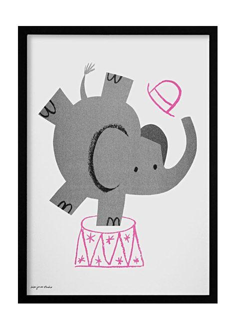 Lisa Jones Studio Elephant Print A3 | \
