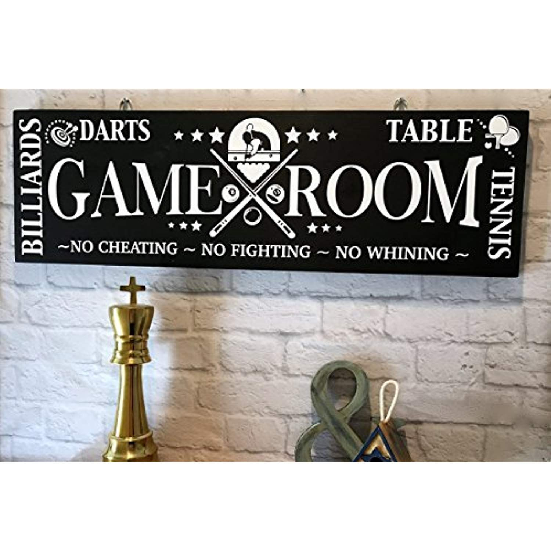 GAME ROOM RULES, Home Sign, Game Room Sign, Garage Decor