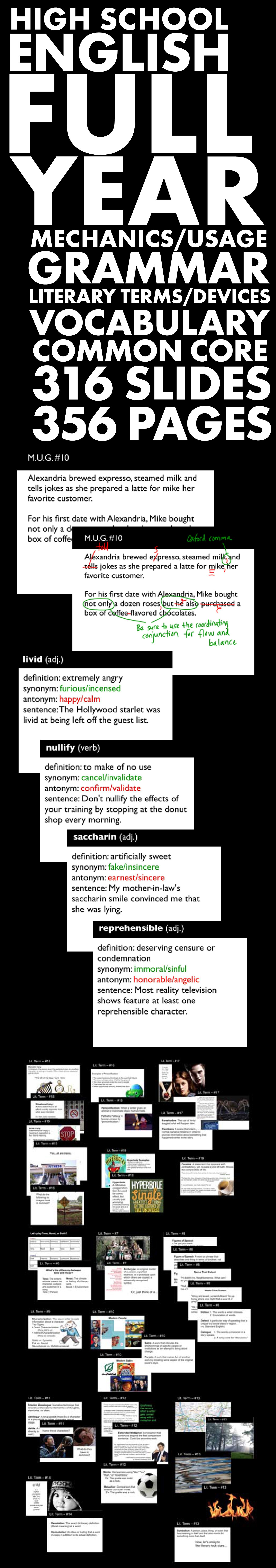 literary terms vocabulary Presentation on theme: literary terms vocabulary -middle school-— presentation transcript:  5 a classification of literature, such as fiction, drama, poetry, etc.