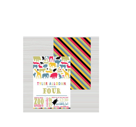 Zoo birthday invitation kids birthday invitation jungle invitation looking for a wildly cute birthday invitation search no further invitation dimensions 5 x 7 includes premium white envelope printed on stopboris Choice Image