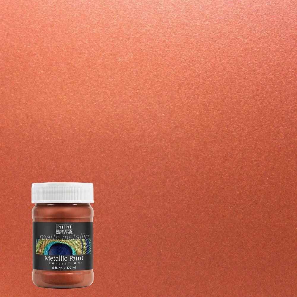 Modern Masters 6 oz. Copper Water-Based Matte Metallic Interior Paint-MM19506 - The Home Depot