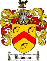 $8.99 Bowman Family Crest / Bowman Coat of Arms - Download Family Crests