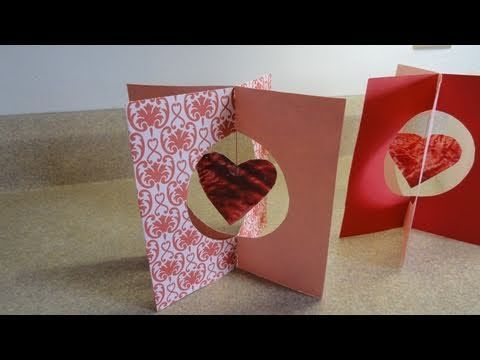 how to make simple stand up valentines day cards and a mobile using wax paper - What Should I Do For Valentines Day