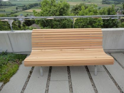 Gartenbank aus Lärchenholz | Balkon & Sichtschutz | Pinterest ...
