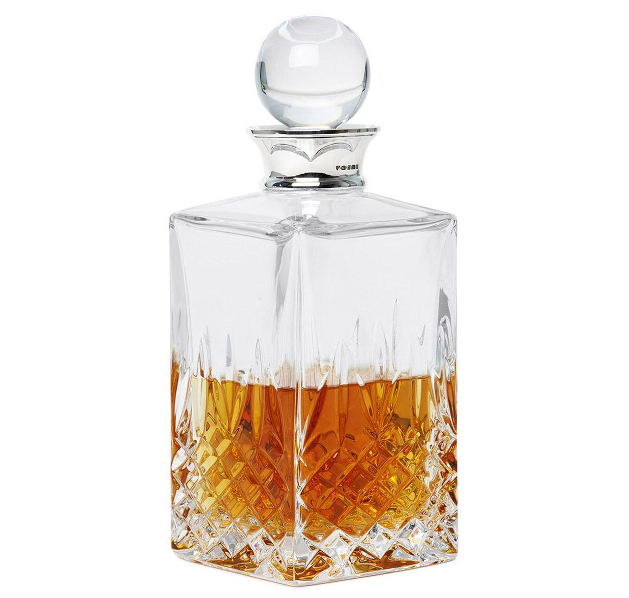 sterling silver crystal balmore spirits decanter decanter crystals and squares. Black Bedroom Furniture Sets. Home Design Ideas