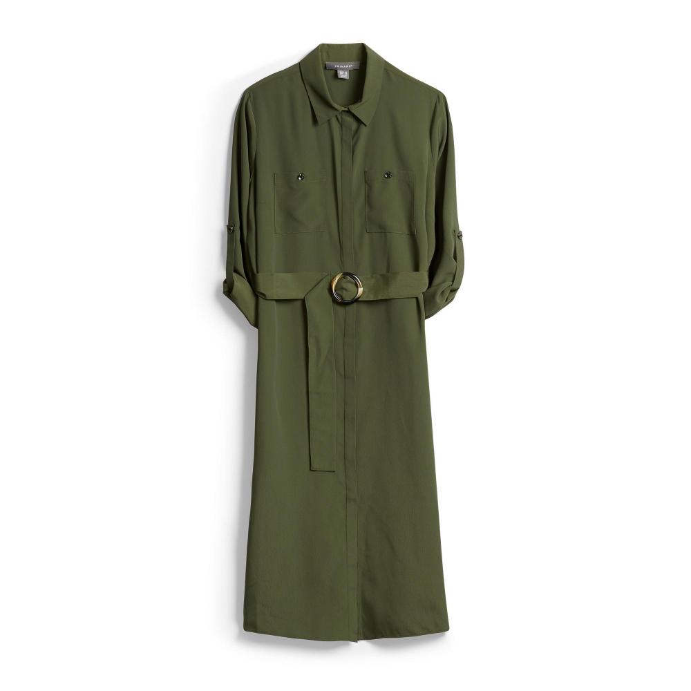 Schwarzes Military-Hemdkleid | Kleider | Damenmode