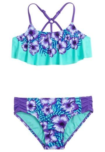 Tween Girls Bikinis Two Piece Swimsuits Swimsuits Flounce Bikini Bikini Swimsuits