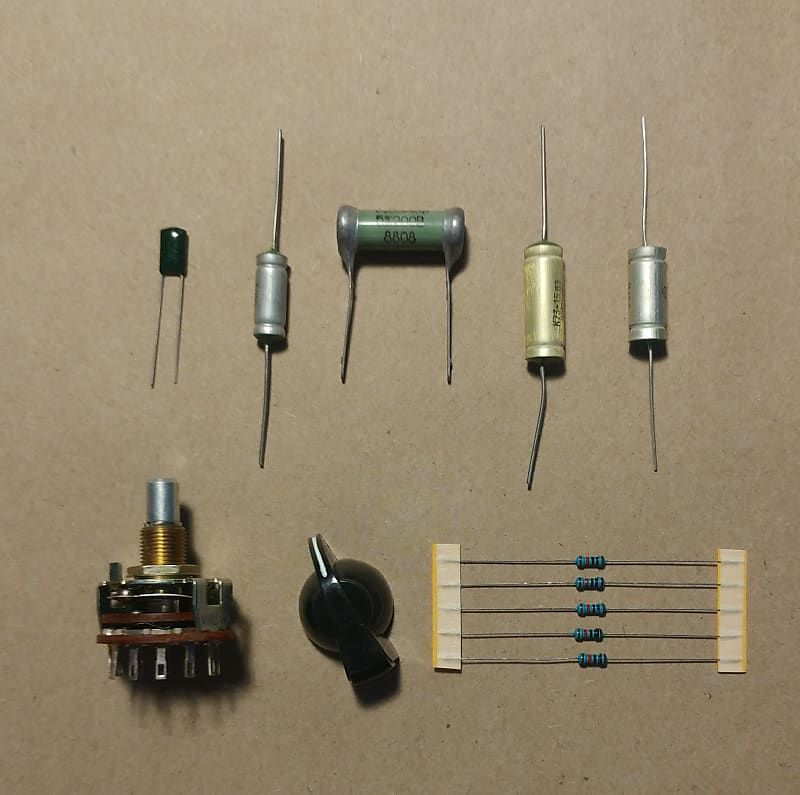 Kit 6 Way Rotary Varitone Selector Switch Kit With 4 Ussr Soviet Caps Chelsea Collectibles Reverb Switch Ussr Capacitor